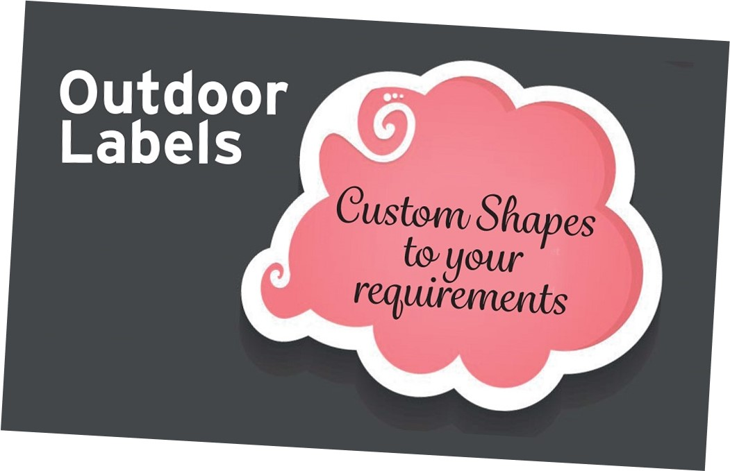 Outdoor permanent standard grade self adhesive gloss vinyl labels